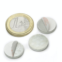PAS-16 Metal disc self-adhesive Ø 16 mm, as a counterpart to magnets, not a magnet!