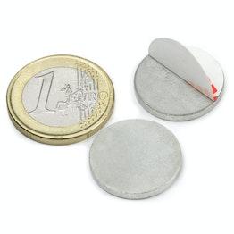 PAS-20 Metallscheibe selbstklebend Ø 20 mm, als Gegenstück zu Magneten, kein Magnet!