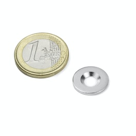 MD-15 Metal disc with counterbore Ø 15 mm, as a counterpart to magnets, not a magnet!