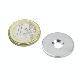 MD-23 Metal disc with counterbore Ø 23 mm, as a counterpart to magnets, not a magnet!