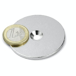 MD-50 Metal disc with counterbore Ø 50 mm, as a counterpart to magnets, not a magnet!