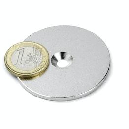 MD-50 Metallscheibe mit Senkbohrung Ø 50 mm, als Gegenstück zu Magneten, kein Magnet!