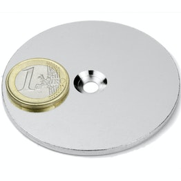 MD-65 Metal disc with counterbore Ø 65 mm, as a counterpart to magnets, not a magnet!