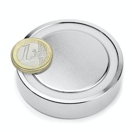 FGN-60 Glue-in pot magnet, holds approx. 130 kg, ø 60 mm