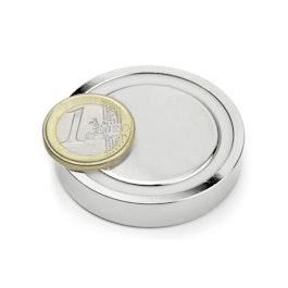 FGN-48 Glue-in pot magnet, Ø 48 mm