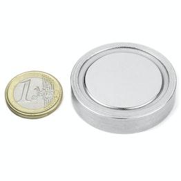 FGN-42 Glue-in pot magnet, Ø 42 mm