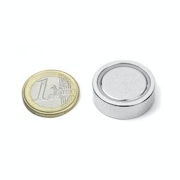 FGN-25 Glue-in pot magnet, holds approx. 22 kg, ø 25 mm