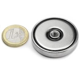 ITN-40 Aimant en pot avec filetage intérieur 40 mm, pas de vis M6