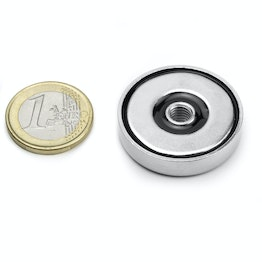 ITN-32 Magnete con base in acciaio con filettatura Ø 32 mm, filettatura M6