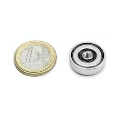 ITN-20 Magnete con base in acciaio con filettatura Ø 20 mm, tiene ca. 7,6 kg, filettatura M4