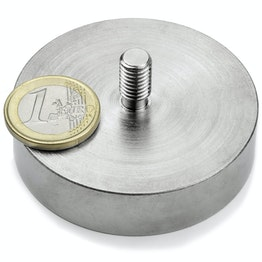 GTN-60 Pot magnet with threaded stud Ø 60 mm, thread M8, strength approx. 130 kg