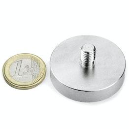 GTN-40 Imán en recipiente con vástago roscado Ø 40 mm, sujeta aprox. 45 kg, rosca M8,