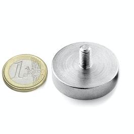 GTN-32 Pot magnet with threaded stem Ø 32 mm, thread M6, strength approx. 39 kg