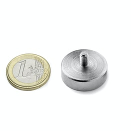 GTN-25 Pot magnet with threaded stud Ø 25 mm, thread M5, strength approx. 25 kg