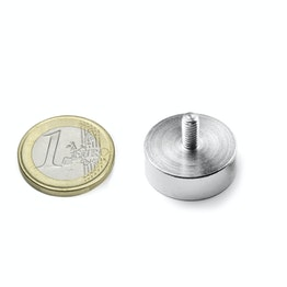 GTN-20 Pot magnet with threaded stud Ø 20 mm, thread M4, strength approx. 12 kg