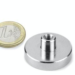 TCN-32 imán en recipiente con inserto roscado Ø 32 mm, sujeta aprox. 30 kg, rosca M5