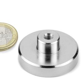TCN-40 Pot magnet with screw socket Ø 40 mm, thread M6