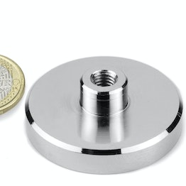 TCN-50 Pot magnet with screw socket Ø 50 mm, thread M8