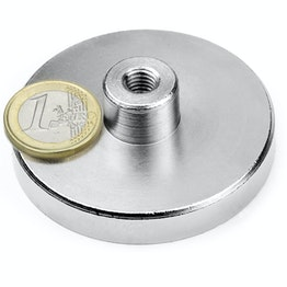TCN-63 Pot magnet with screw socket Ø 63 mm, thread M8