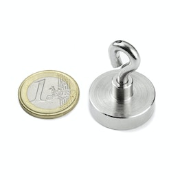 OTN-25 Pot magnet with eyelet Ø 25 mm, holds approx. 18 kg, thread M4