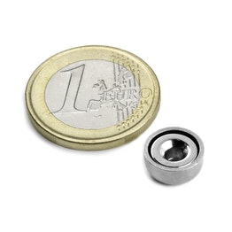 CSN-10 Countersunk pot magnet Ø 10 mm, strength approx. 1,3 kg