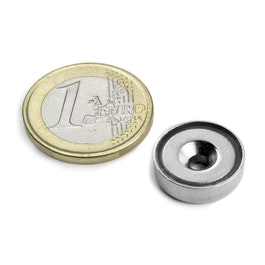 CSN-HT-16 Countersunk pot magnet Ø 16 mm, strength approx. 4 kg