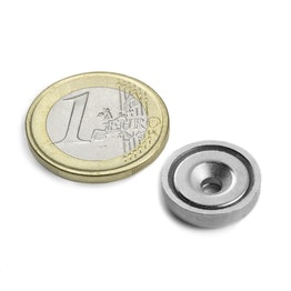 CSN-ES-16 Countersunk pot magnet Ø 16 mm, holds approx. 6,9 kg,