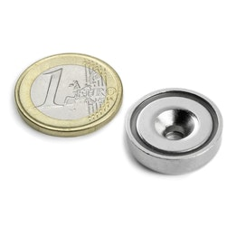 CSN-HT-20 Countersunk pot magnet Ø 20 mm, strength approx. 8,9 kg