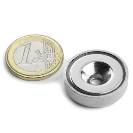 CSN-HT-25 Countersunk pot magnet Ø 25 mm, strength approx. 19 kg