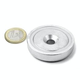 CSN-48 Imán en recipiente avellanado Ø 48 mm, fza. sujec. aprox. 87 kg