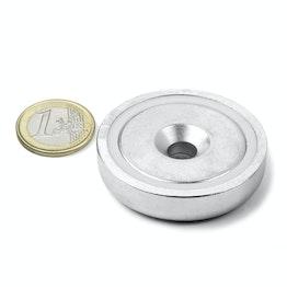 CSN-48 Topfmagnet mit Senkbohrung Ø 48 mm, hält ca. 87 kg,