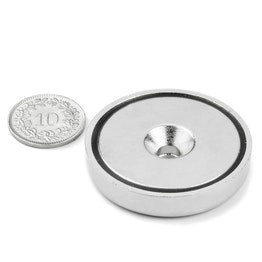 CSN-40 Countersunk pot magnet Ø 40 mm, strength approx. 52 kg