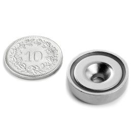 CSN-20 Countersunk pot magnet Ø 20 mm, strength approx. 8.9 kg