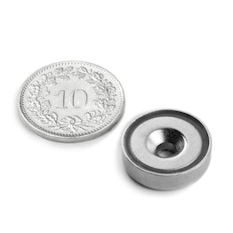 CSN-16 Countersunk pot magnet Ø 16 mm, strength approx. 4 kg