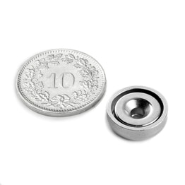 CSN-13 Countersunk pot magnet Ø 13 mm, holds approx. 3 kg,