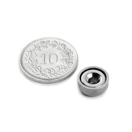 CSN-10 Countersunk pot magnet Ø 10 mm, strength approx. 1.3 kg
