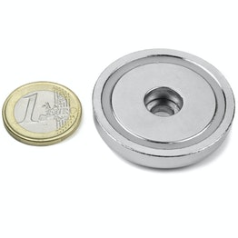 ZTN-42 Pot magnet with cylindrical borehole, Ø 42 mm