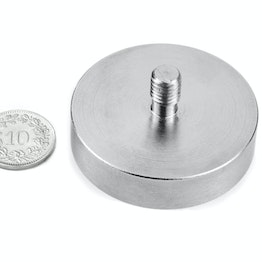 GTN-48 Pot magnet with threaded stud Ø 48 mm, thread M8, strength approx. 85 kg