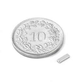 Q-05-1.5-01-N Block magnet 5 x 1.5 x 1 mm, neodymium, N45, nickel-plated
