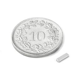 Q-05-1.5-01-N Quadermagnet 5 x 1.5 x 1 mm, Neodym, N45, vernickelt