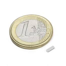 Q-05-1.5-01-N Quadermagnet 5 x 1,5 x 1 mm, Neodym, N45, vernickelt
