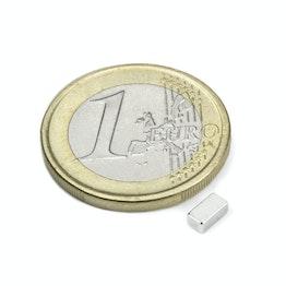 Q-05-2.5-02-HN Block magnet 5 x 2,5 x 2 mm, neodymium, 44H, nickel-plated