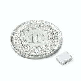 Q-05-04-1.5-N Block magnet 5 x 4 x 1.5 mm, neodymium, N48, nickel-plated