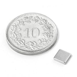 Q-CDM50-N Quadermagnet 5 x 5 x 1.2 mm, Neodym, N50, vernickelt