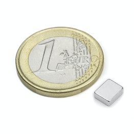 Q-06-05-02-HN Parallelepipedo magnetico 6 x 5 x 2 mm, neodimio, 48H, nichelato