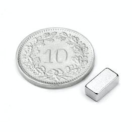 Q-08-04-03-N Block magnet 8 x 4 x 3 mm, neodymium, N45, nickel-plated