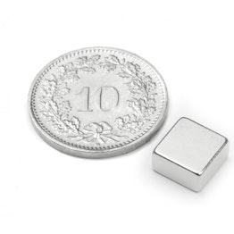 Q-08-08-04-N Blokmagneet 8 x 8 x 4 mm, houdt ca. 1.5 kg, neodymium, N45, vernikkeld