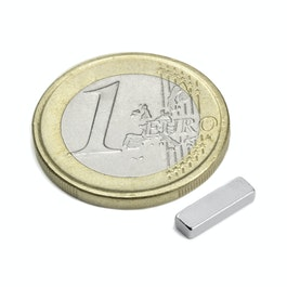 Q-10-03-02-HN Quadermagnet 10 x 3 x 2 mm, Neodym, 44H, vernickelt