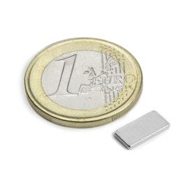 Q-10-05-1.2-N Block magnet 10 x 5 x 1,2 mm, neodymium, N50, nickel-plated