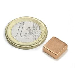 Q-10-10-04-K Blokmagneet 10 x 10 x 4 mm, neodymium, N40, verkoperd